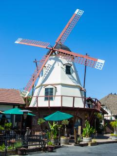 Windmills liken Copehagen Denmark.Featured throughout Solvang. Come to Danish Days.