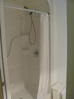 4 Foot walk in Shower with built in seat