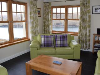 Sitting room to the front of the house, views of Loch Harport