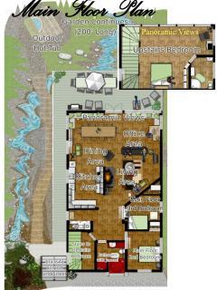 Floor Plan of House and Garden