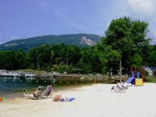 The resort's private beach is perfect for soaking up the sun, splash in the lake or have a picnic!
