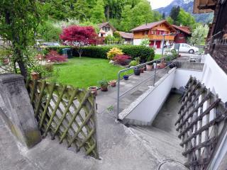 Back garden and entrance.