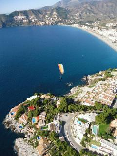 Paragliding over the bay