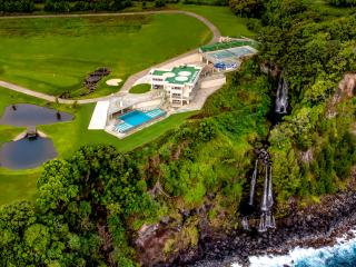 Epic Big Island Vacation Rental Boasting a Double Waterfall, Golf Course and Helicopter Pad!, Hilo