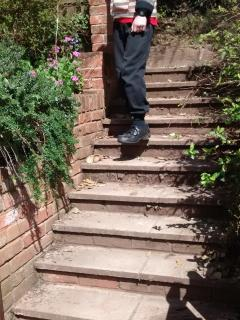 These steps take you from the car park to Madeira Walk, from which you can access Channel View