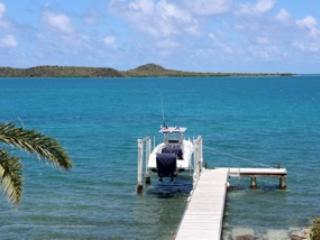 Large dock; great for fishing with reef to the right