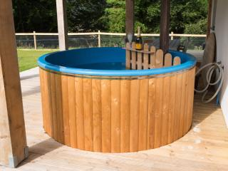 Wood Fired Hot Tub.