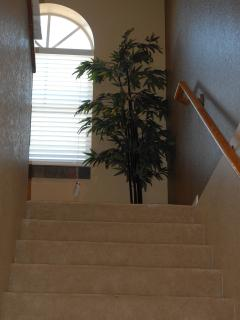This is to staircase from the main floor up to the living area