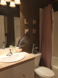 The main bathroom is also nicely done and very comfortable