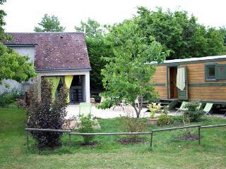Gite Roulotte 5 personnes Chateaux Loire Touraine, Saunay
