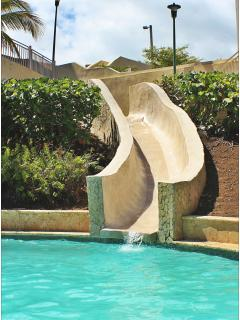 Water slide at pool next to condo.. a lot of fun for kids..