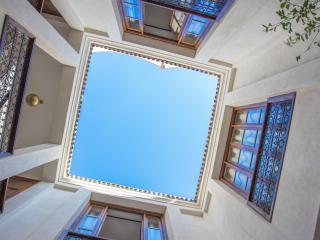 courtyard open to sky