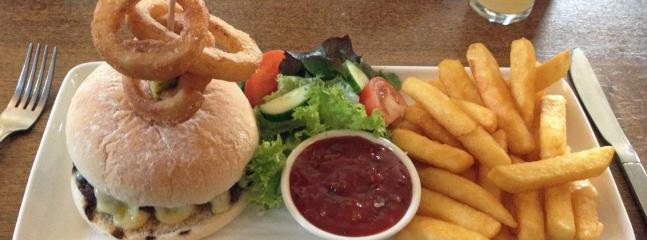 Burger and Chips at the Martyrs Inn - we are pleased to offer you a discount here