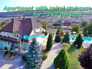 Apartment with spiral staircase 2+2 persons