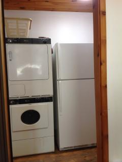 FRIDGE, WASHER, DRYER, AND TRASH COMPACTOR