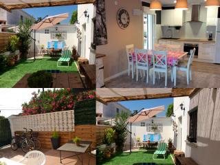 Apártamento 3 habitaciones, wifi, jardin, barbacoa, Cambrils
