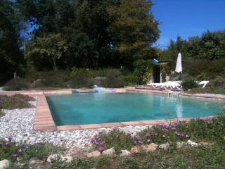 quiet stone farm house, large pool 360 views