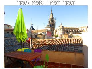 Casa Catedral, hasta 6 personas, terraza y patio, Toledo