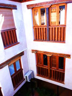 Vista desde una de las habitaciones.