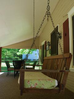 Relax on our porch swing
