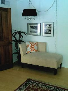Chaise in Bedroom 1..