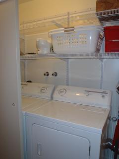 Large Front loading Washer and Dryer inside the suite