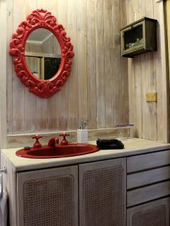 Bathroom with storage room under the vanity