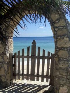 Archway and gate to the beach
