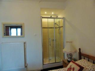 En suite shower in double bedroom of la Lune