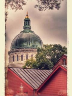 USNA Chapel dome.  Beautiful spot in our city.