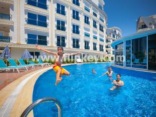 Luxury 3BR duplex apartments for family holidays at Melda Palace, Antalya