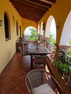 Casa balcony - perfect for breakfast overlooking the Med