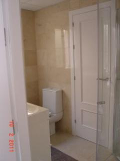 Bedroom 2 & 3 Shower room, walls in marble