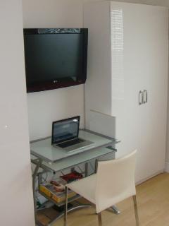 Your desk with Internet wifi modem.