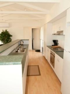 Fully self contained open plan kitchen, Sea views.