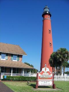Ponce inlet light house 8 miles south