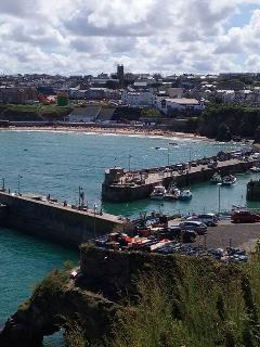 Newquay views with harbour