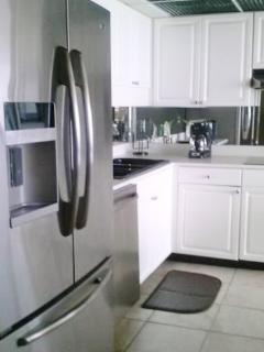 High end, custom cabinets, French stainless steel appliances open design