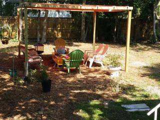 Relax in this nice shady area or in the hammocks.