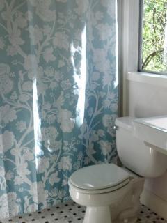 Bathroom has a bathtub