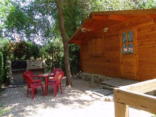 cabañitas de madera con barbacoa, Sacedón