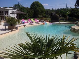 Grand gîte avec piscine 14x9 tennis, beach volley,, Castelmoron-sur-Lot