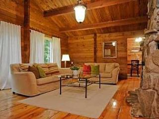 Log cabin in the woods, Uxbridge