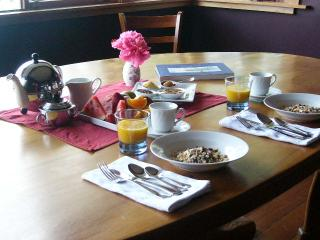 Breakfast in the dining room.