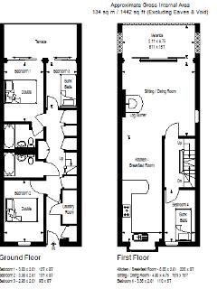 Here are the floor plans of this amazing 5 x bedroom waterside holiday villa