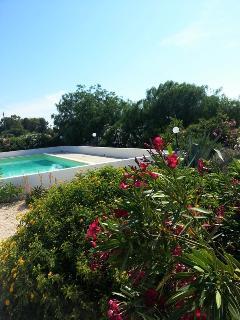 Outside area near pool