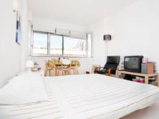 Queen size bed in livingroom