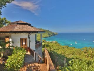 Hibiscus Cottage is very private and has incredible views overlooking the Caribbean Sea
