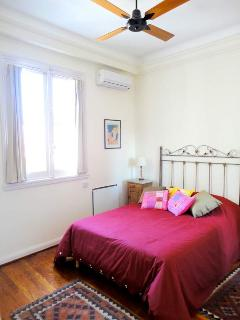 Comfortable double-bed in bedroom 1
