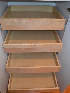 Ample kitchen storage.